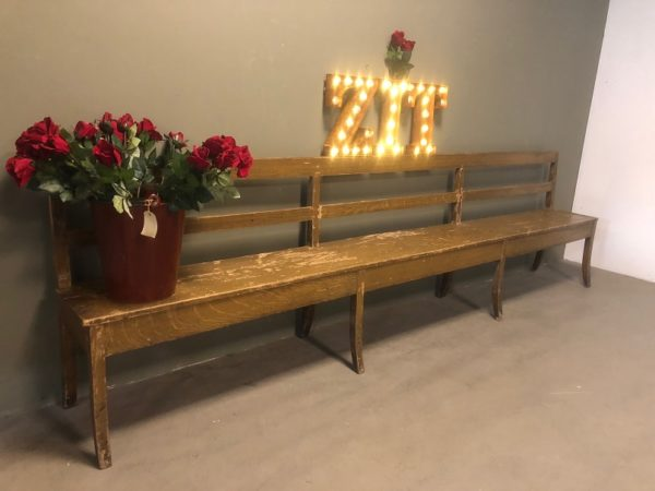 Vintage-French-wood-bench-houten-franse-bank 2