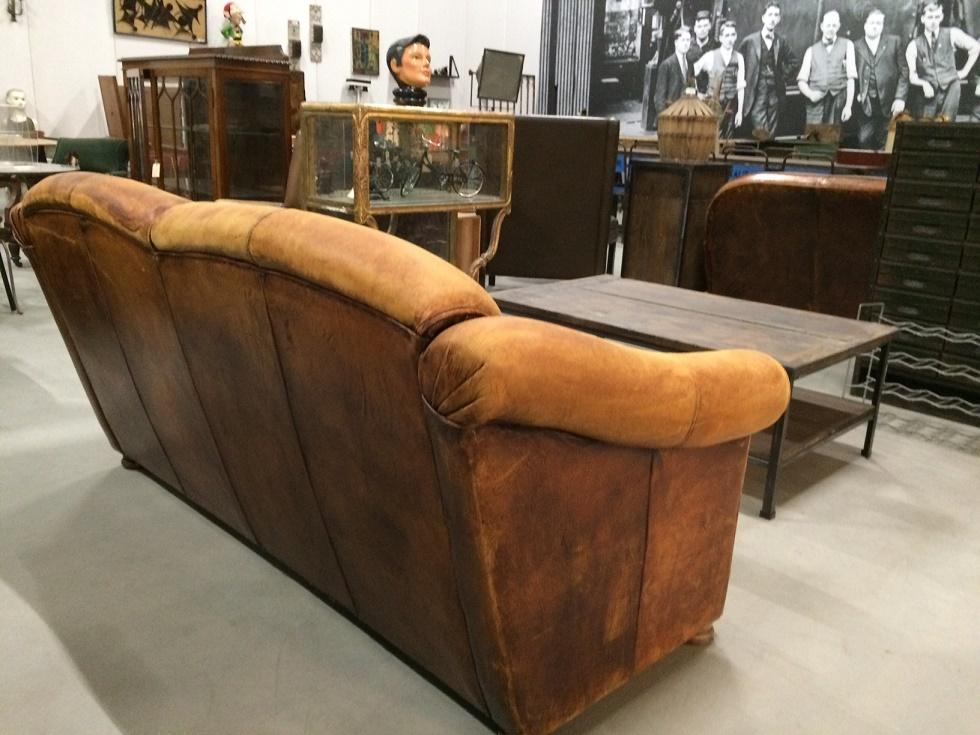 Leren Bank Schapenleer.Schapenleren Vintage Bank Verkocht Itsthat
