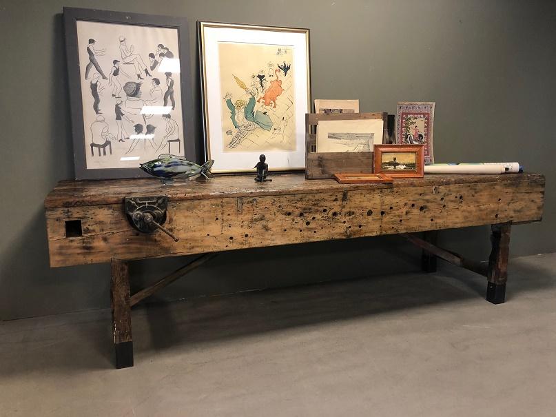 Fonkelnieuw Vintage houten werkbank/display tafel – itsthat BQ-76